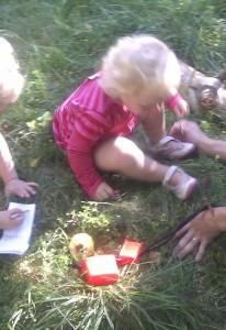 Geocaching med Maren Emilie med flere