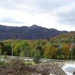 Bilde av deler av utsikten fra tomta
